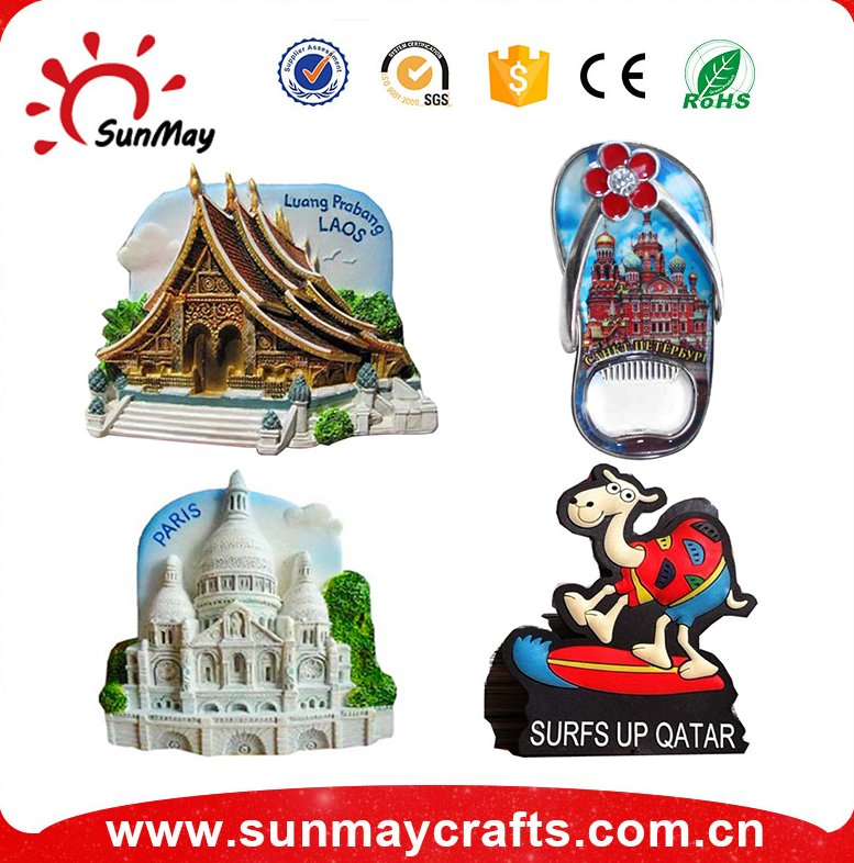 2016 Alibaba cheap wholesale resin tourist custom 3d pvc fridge magnet