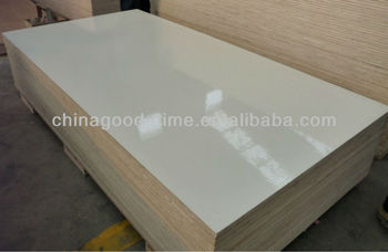 White High Gloss Lacquered Plywood Buy High Gloss