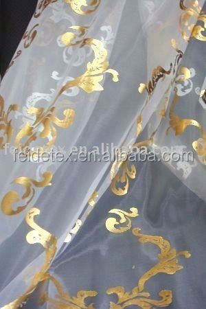 100% Polyester Embroidered Satin Fabric Curtain Tulle