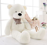 free sample 120cm/47''Giant Big Huge Toys doll White Teddy Bear Plush Stuffed Soft kids Gift/giant white teddy bear