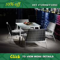 wholesale fashion synthetic rattan garden ridge outdoor furniture set