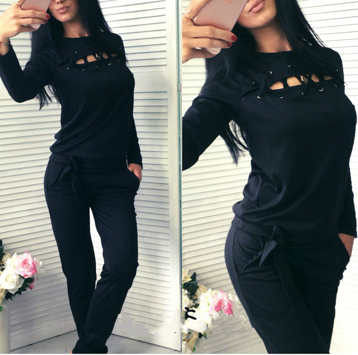 B31637A Custom long sleeve Fitness women tracksuit add logo /cotton or polyester new design tracksuit women