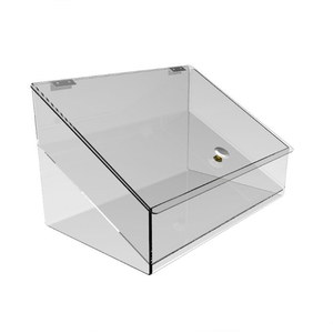 Fixture Clear Acrylic Candy Food Retail Bin, Lucite Container Dispenser