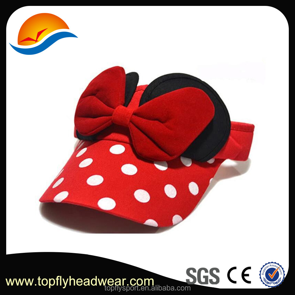 Wholesale sun visor hats with bowknot for baby, Cute girls wave point kids hat custom ,baby sun visor hats .