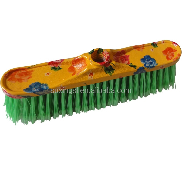 printing flower PP plastic broom for cleaning