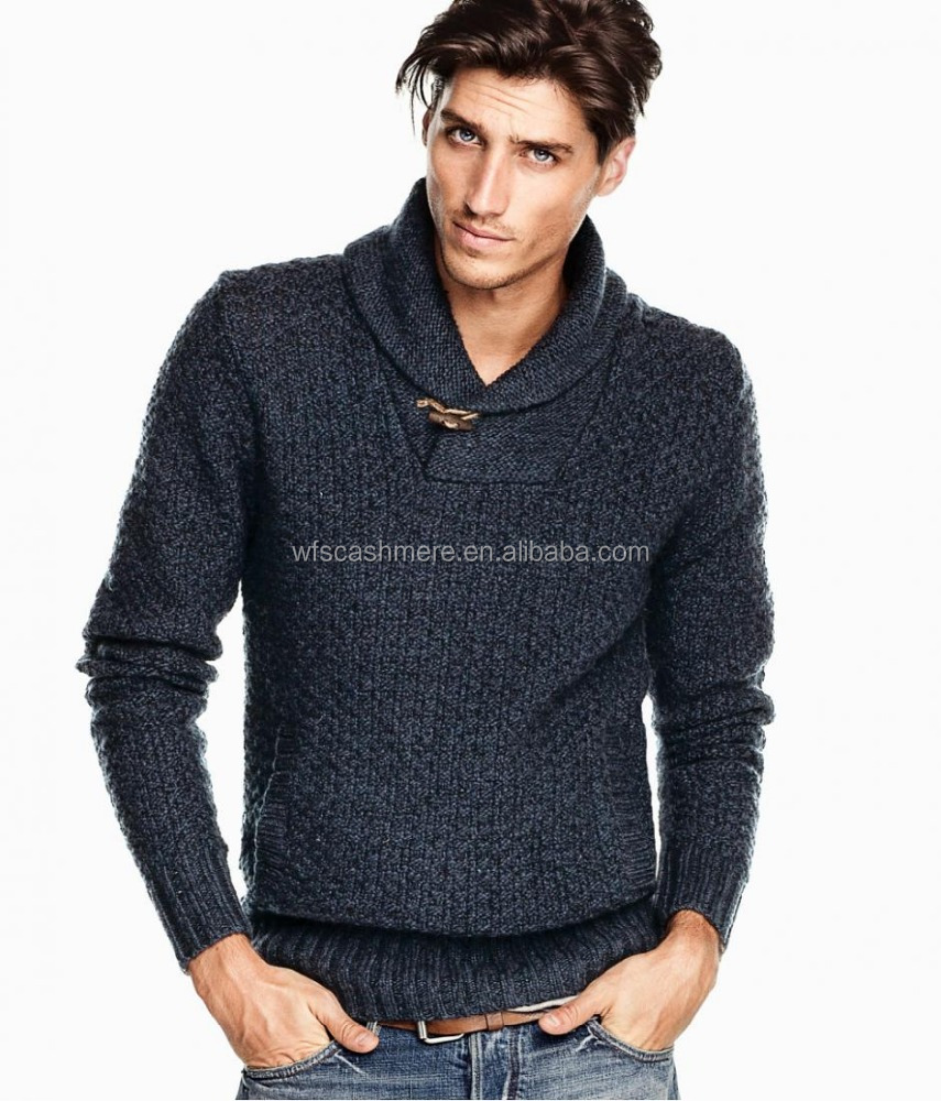 Fashion design thick wool knitted pullovers for men