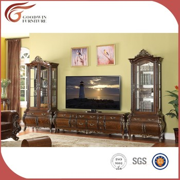 Luxury Royal 2m Antique Wooden Tv Stand WA165