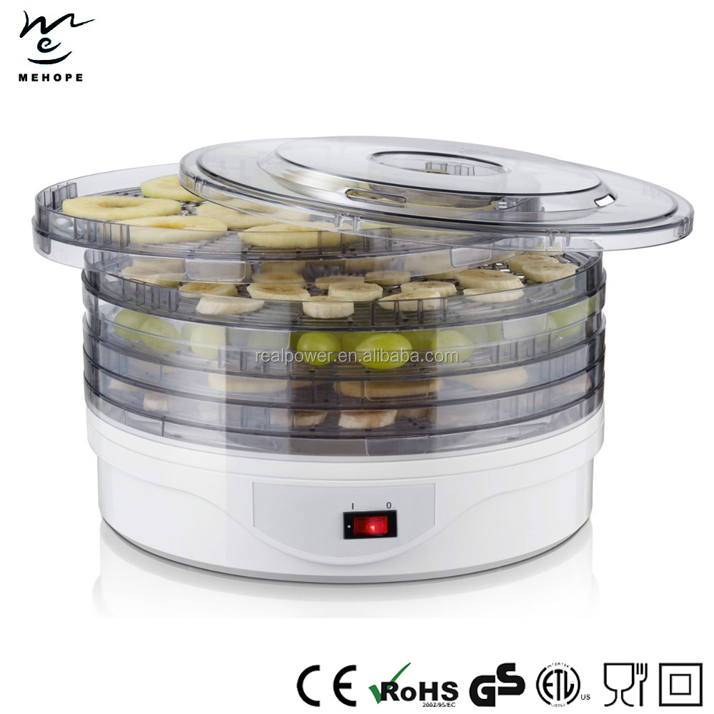 Electric Food Dehydrator/Dryer WIth 5 Adjustable Trays, 250W