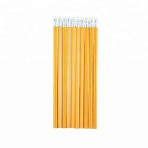 High quality yellow color 2b pencil with eraser for students