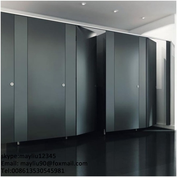 Solid Phenolic Core Toilet Partition And Stainless Steel