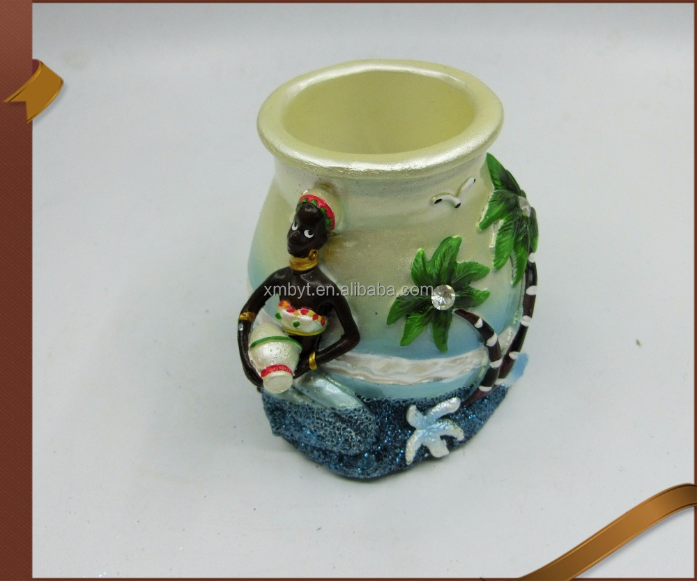 NAUTICAL THEMED PUFFIN RESIN PENCIL HOLDER NEW.