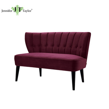 Burgundy Upholstery Couch Modern Fabric