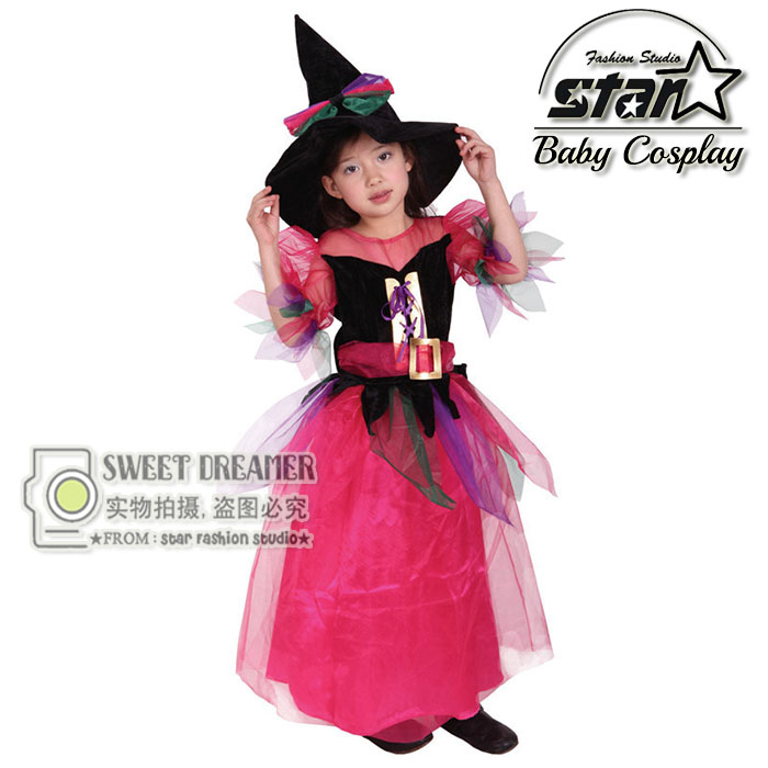2016 Wizards Costume for Girl Kids Party font b Dresses b font Witch Costume font b