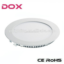 2015 hot selling smd 2835 recessed round led panel lamp