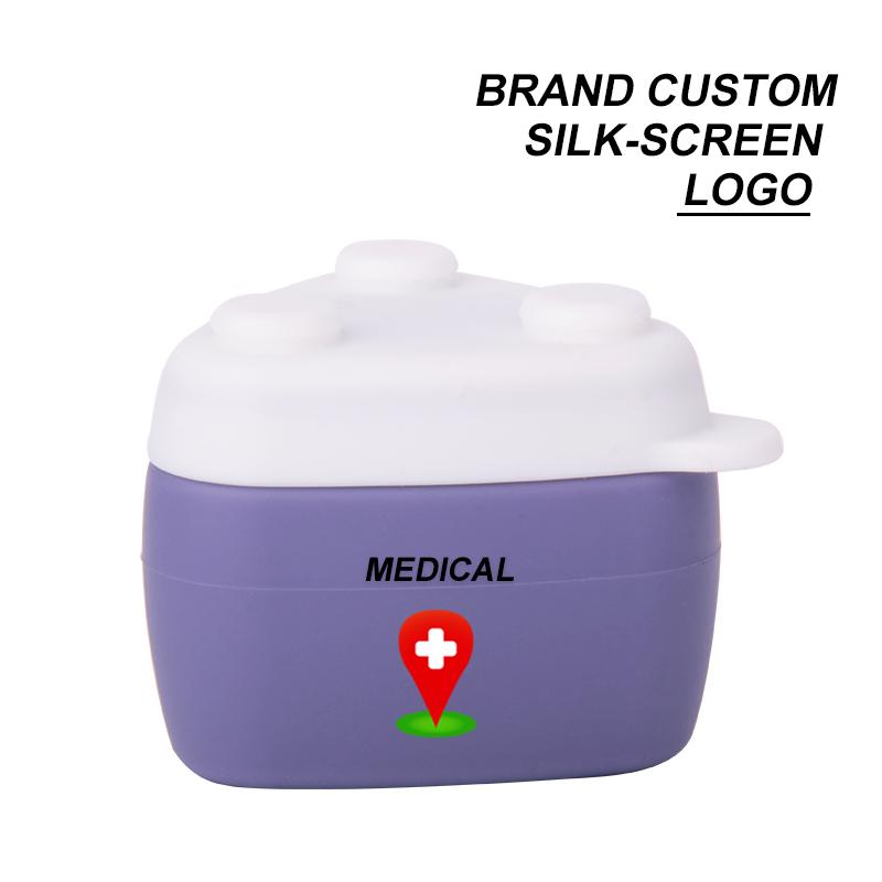 silicone travel bottles custom silk screen logo