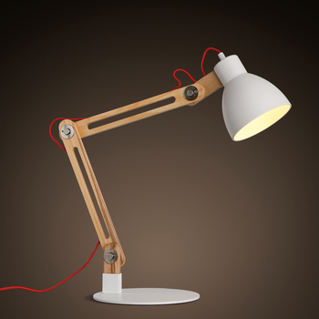 Nordic Modern White Desk Wood Iron Table Lamps Wooden Lamp Product On Alibaba