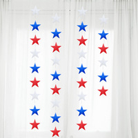 4th of July Banner Five-pointed Star Bunting Banner Paper Hanging Garland for American Independence Day Wholesale