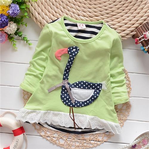 Девочки-младенцы одежда длинный рукав дети толстовки одежда для младенцев кофты KT323R
