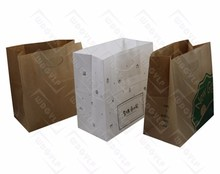 Cheap Low Price Kraft Paper Bag by Machine Die Cut Handle