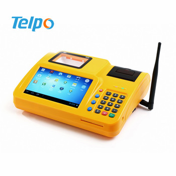 "7"" Touch Screen Desktop Android POS Terminal for E-payment, Top up, Lotto, Sport Betting"