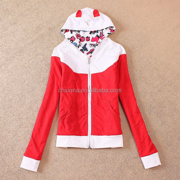 franais terry automne femmes fille sweat capuche manteau mignon color veste lumineux 2 style - Veste Colore Femme