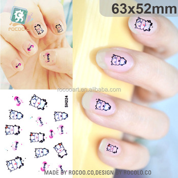 Sh224hot Selling Nail Manicures Decals 3d Nail Gel Art Stickers
