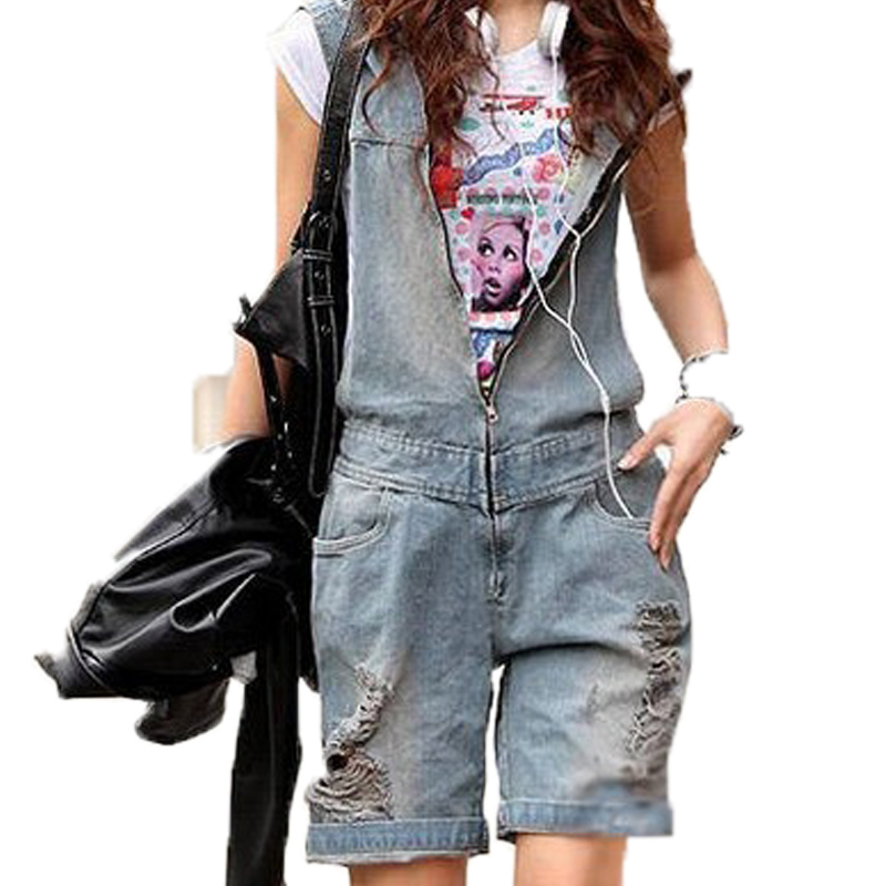875ca964bf1 Get Quotations · Rompers womens jumpsuit overalls loose casual denim jumpsuit  shorts jeans women hoodies fashion plus size denim