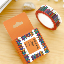 1Box New 1.5CM Wide Amazing Library Books Washi Tape DIY Scrapbooking Sticker Label Masking Tape School Office Supply H1277