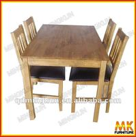 KD furniture/solid wood oak table and chair