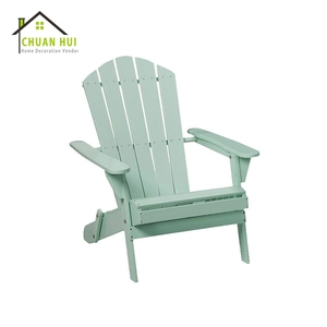Outdoor patio furniture green fold wood adirondack chair