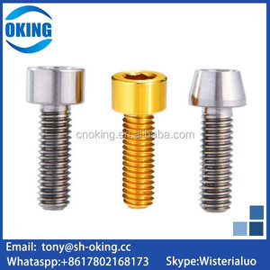 titanium tapered head screw