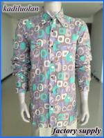 pearl button cotton pigment printing custom printed man shirts