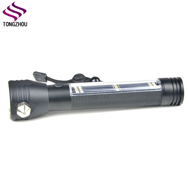 Multi Functional Super Bright Charging Flashlight LED Lamps Torch Lamp EH