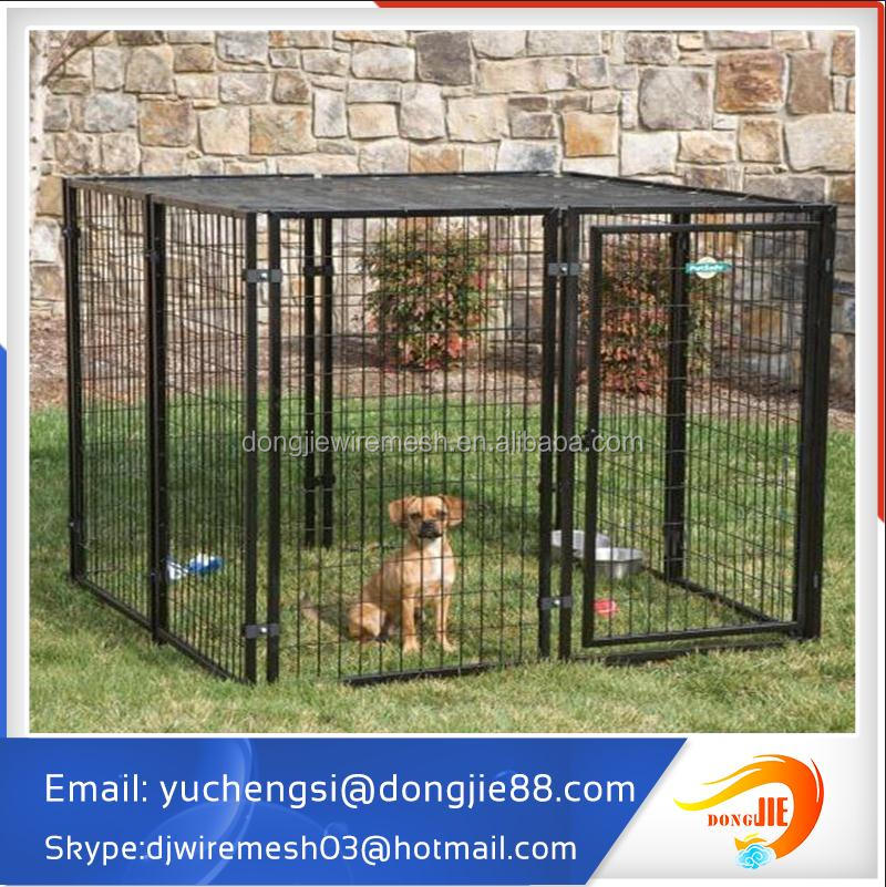 anping factory low price low MOQS heavy duty luxury metal welded wire outdoor dog run