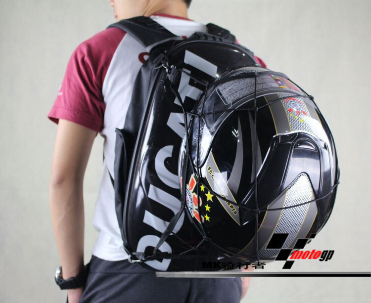 773ff9a60c NEW Ducati Hard Shell Motorcycle Backpack Laptop Helmet Carry 2L .