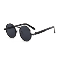 Steam Punk Retro Personality Round Frame New Sunglasses