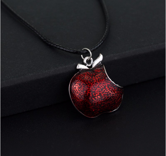 Once Upon A Time Red Poisoned Meirenpeizi Apple Swan Necklace Inspired Evil Queen Snow White Pendant Chain Necklace Collar