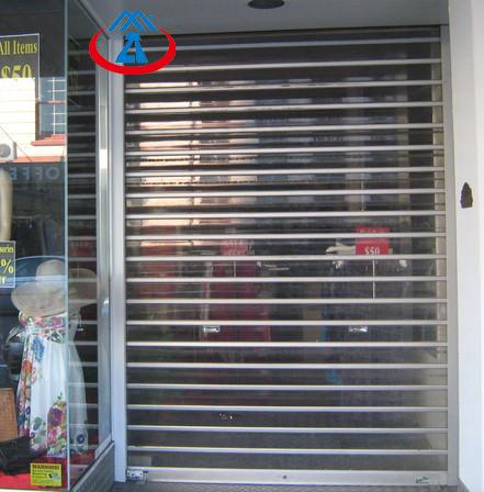 product-Polycarbonate Transparent Roller Shutter Door for Commercial Store PC Security Rolling Door