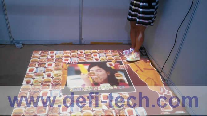 DEFI interactive floor projection system 130 effects for Advertising, event, wedding