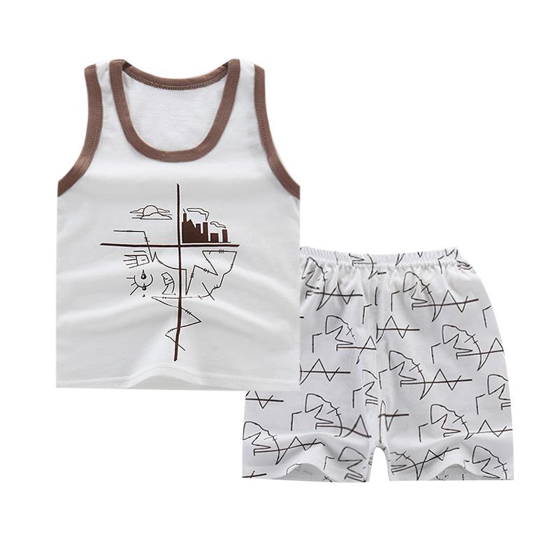 安い子供キッズショートブティック快適な中国工場卸売服セット