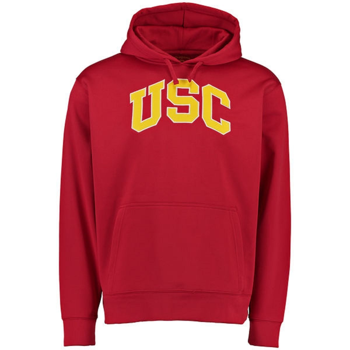 USC Trojans Red Arched Wordmark Hooded Sweatshirt Hoody