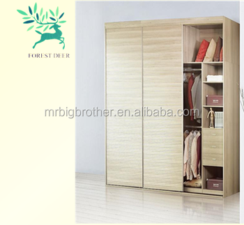 Wardrobe Laminate Designs For Bedroom, Wood Simple 3 Door Bedroom Wardrobe  Designs