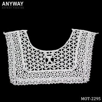 Wholesale Square Shape Cotton Neck Crochet Lace Collar Pattern For