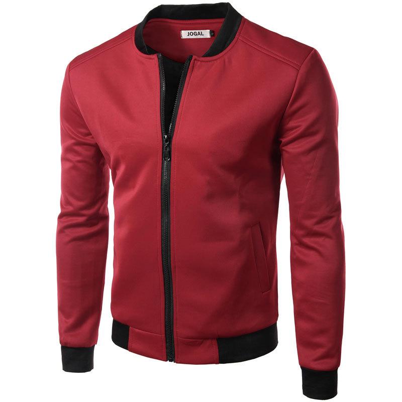 New Wine Red Jacket Men 2016 Autumn Fashion Design Mens