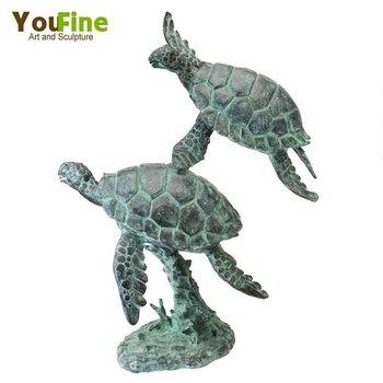 Genial Life Size Garden Bronze Turtle Sculpture For Sale