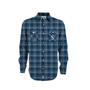 100% cotton flannel plaids printed Men custom t shirt