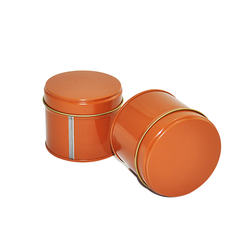 plain round tins for candy/cookies/tea storage packaging