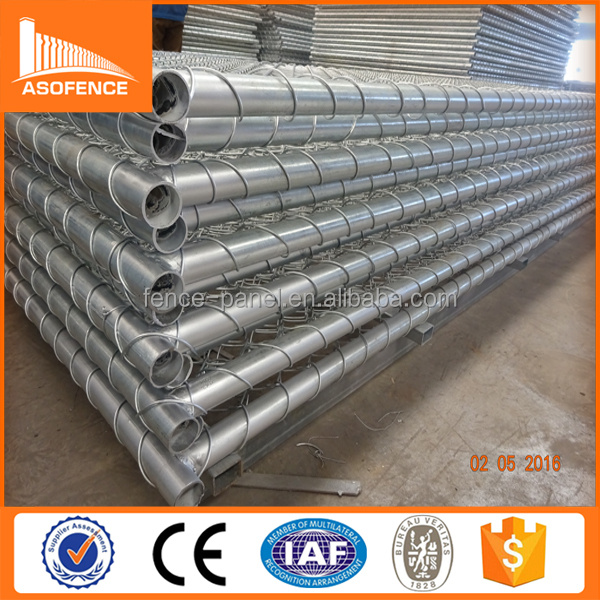 galvanized chain link fence panel/woven field fence/chain link fence poles