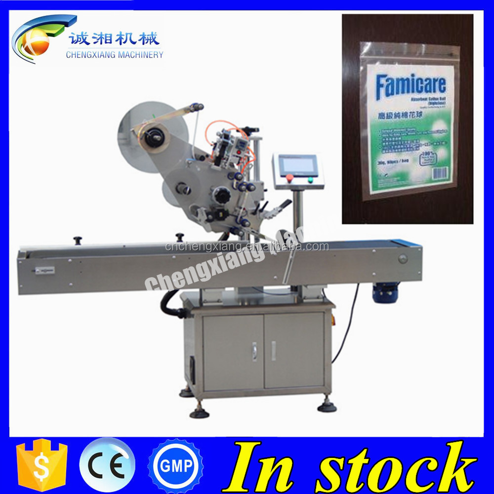 Automatic bag labeling machine,top labeler
