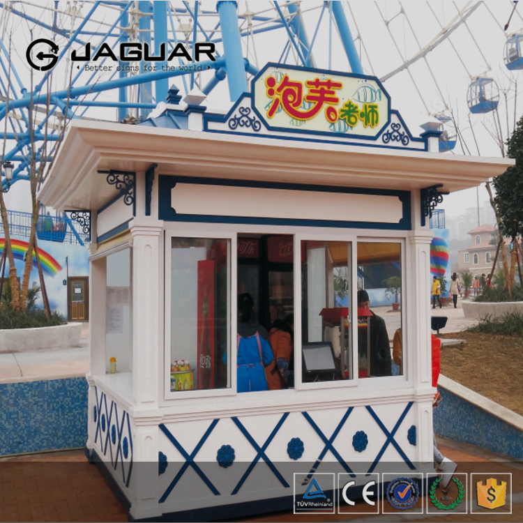 2016 custom made outdoor stainless steel booth design prefab food kiosk